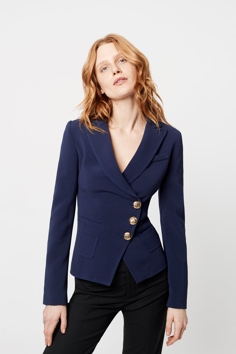 WRAP BLAZER NAVY