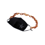 FACE MASK / GLASSES CHAIN - BROWN
