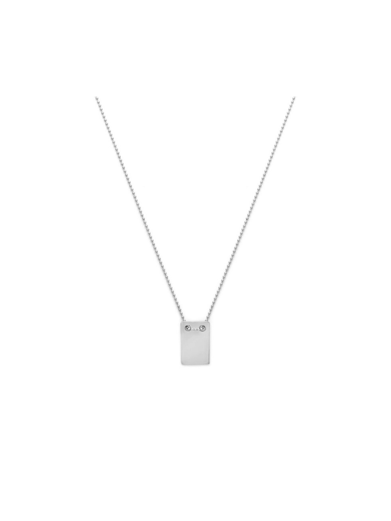 NOTE NECKLACE | SILVER