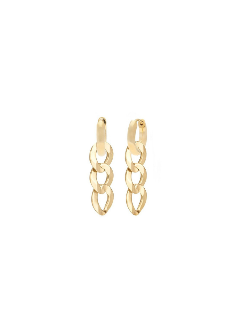 CURB CHAIN HOOPS | GOLDFILL