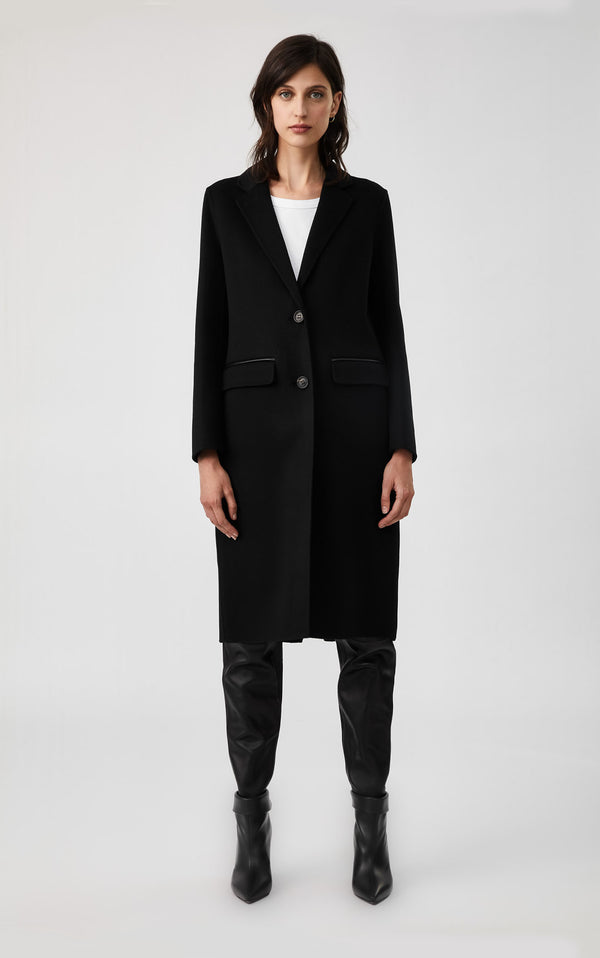 HENS - WOOL COAT - BLACK