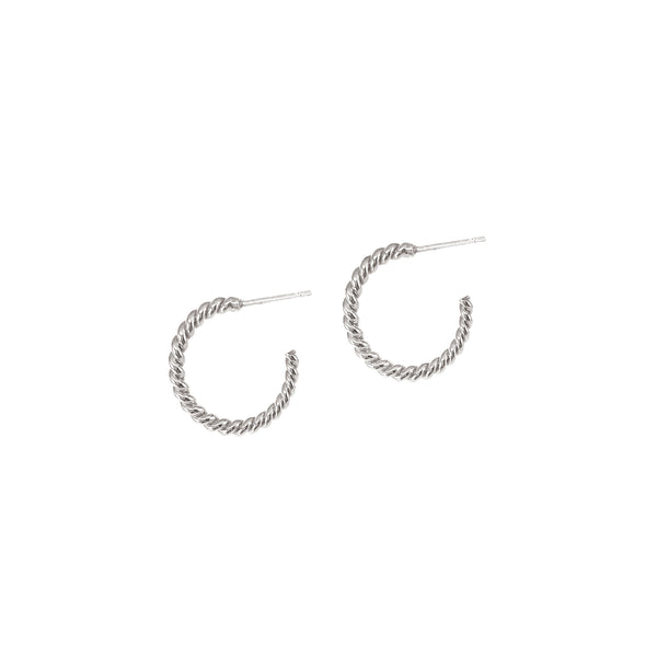 HELIX HOOPS - SMALL - SILVER