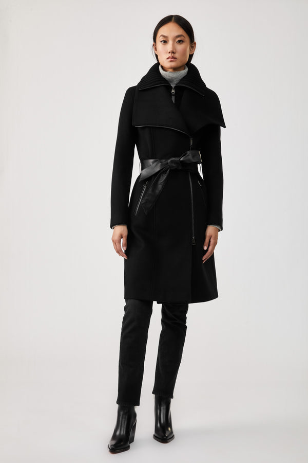 NORI WOOL COAT - BLACK