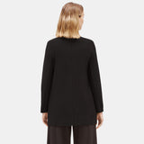 SYSTEM LIGHTWEIGHT WASHABLE STRETCH CREPE LONG JACKET