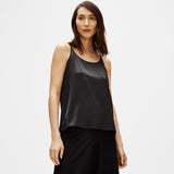 SYSTEM STRETCH SILK CHARMEUSE CAMI