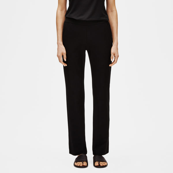 SYSTEM STRETCH CREPE STRAIGHT PANT WITH POCKETS