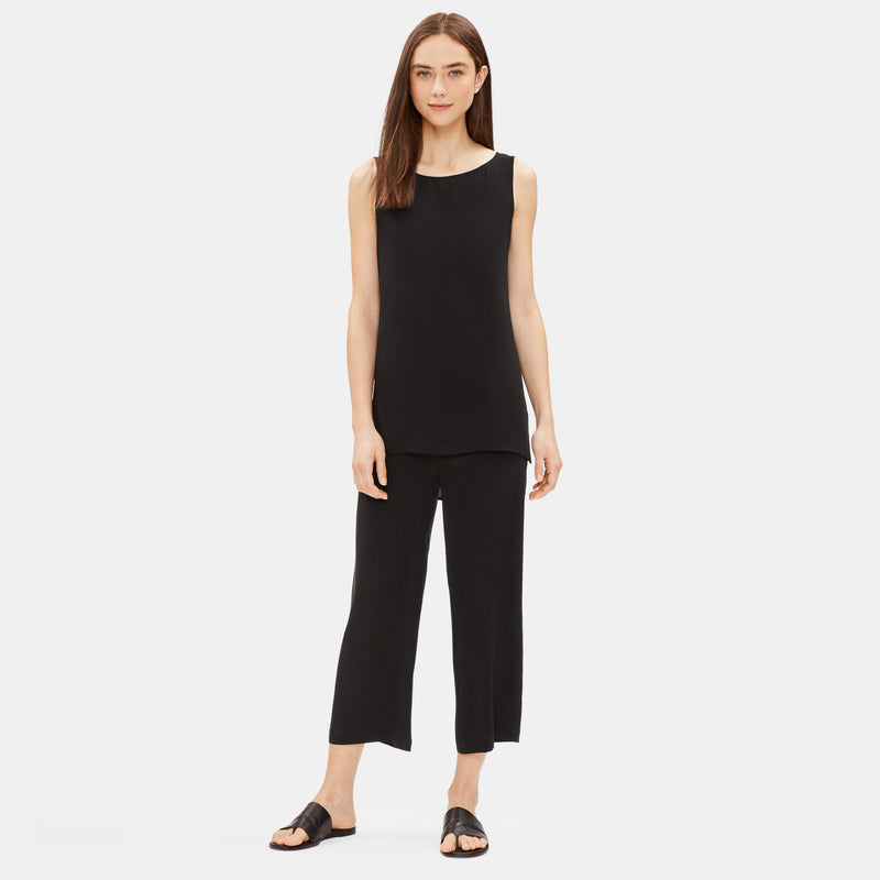 SYSTEM SILK GEORGETTE CREPE LONG SHELL - BLACK