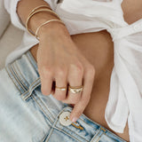 TWIST BAND RING | GOLD