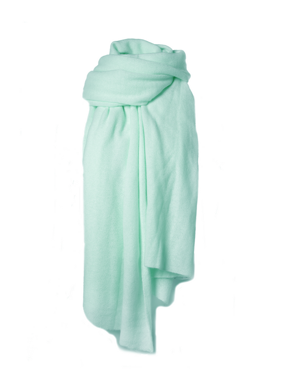 CASHMERE TRAVEL WRAP - AGAVE HEATHER