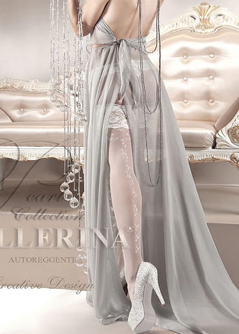 Ballerina Embroidered Hold Ups 123