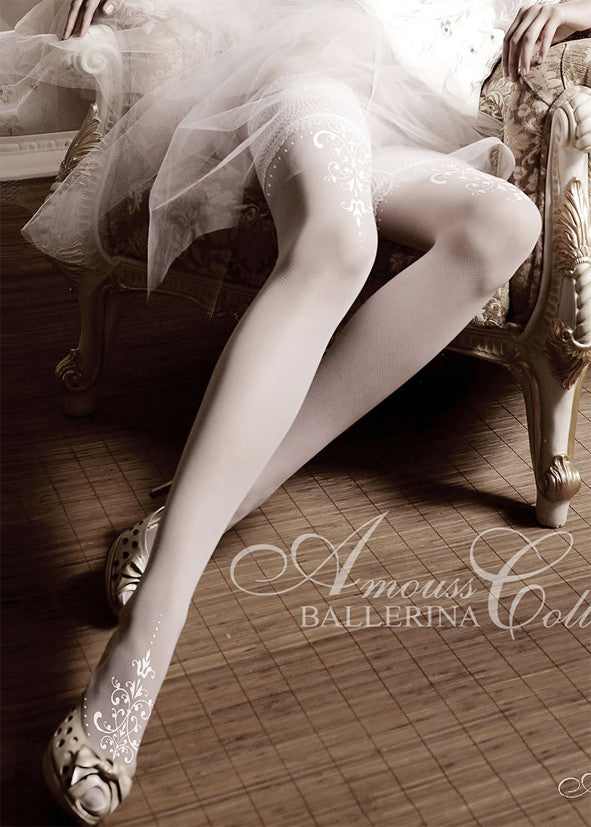Ballerina Embroidered Hold Ups 007