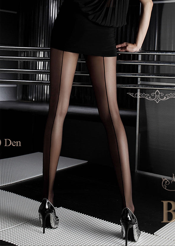 Ballerina Back Seamed Tights 050