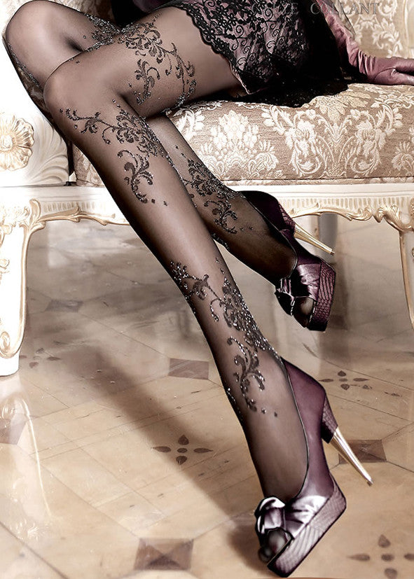 Ballerina Embroidered Tights 096