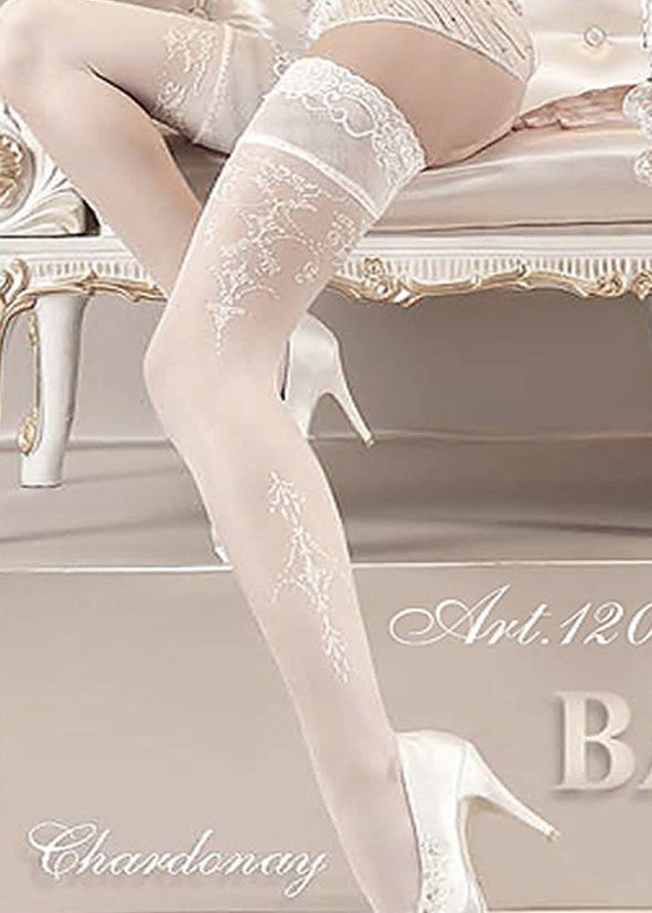 Ballerina Embroidered Hold Ups 120