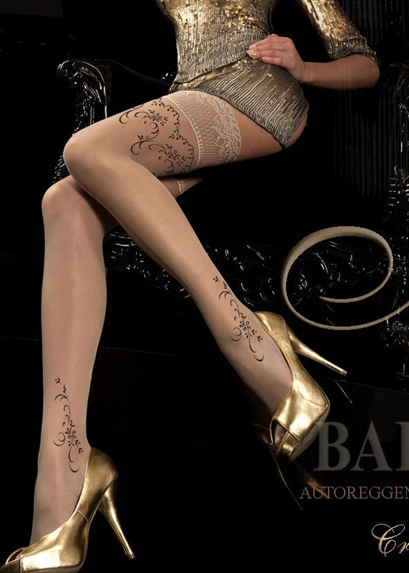 Ballerina Embroidered Hold Ups 182