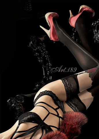 Ballerina Embroidered Hold Ups 189