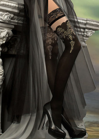 Ballerina Embroidered Hold Ups 220