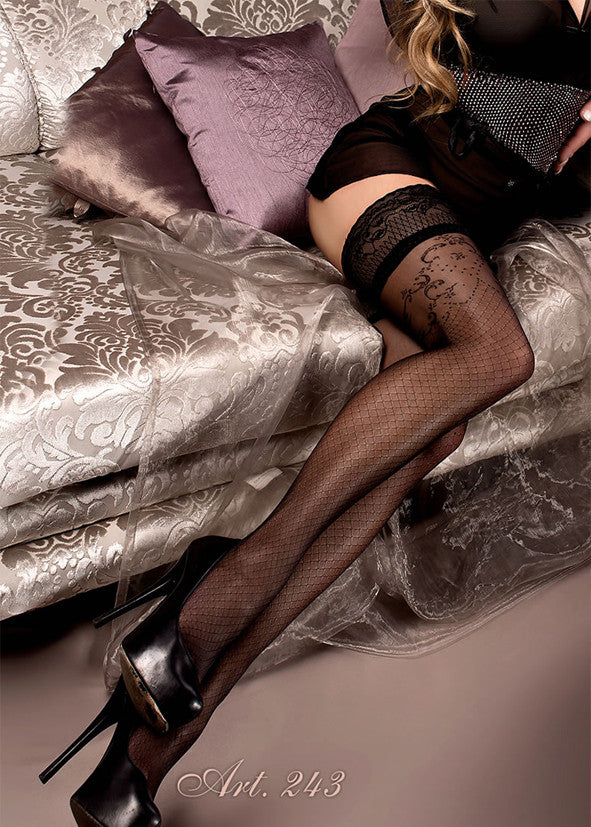 Ballerina Embroidered Hold Ups 243