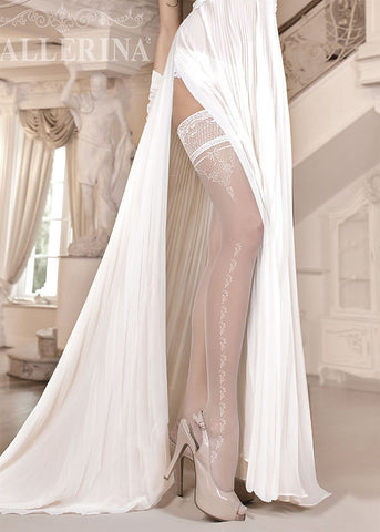 Ballerina Embroidered Hold Ups 253