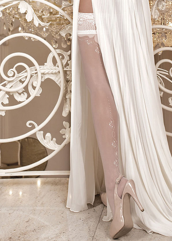 Ballerina Embroidered Hold Ups 255