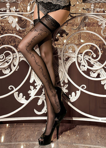 Ballerina Embroidered Hold Ups 259