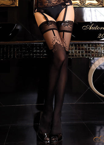Ballerina Embroidered Hold Ups 260