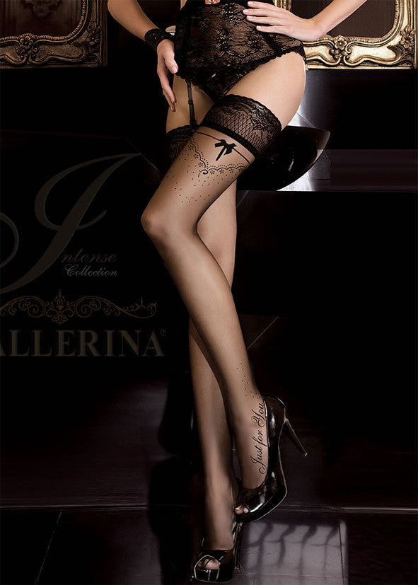 Ballerina Embroidered Hold Ups 261