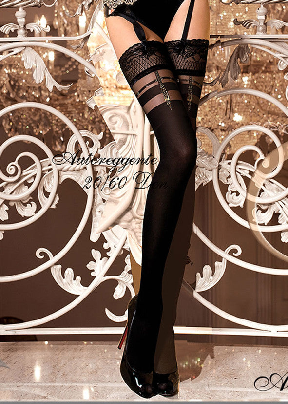 Ballerina Embroidered Hold Ups 263