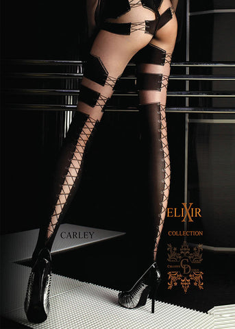 Ballerina Faux Lace Up Tights 048