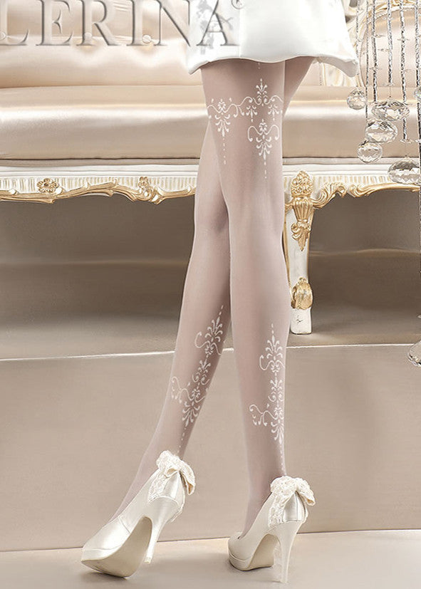 Ballerina Embroidered Hold Ups 118