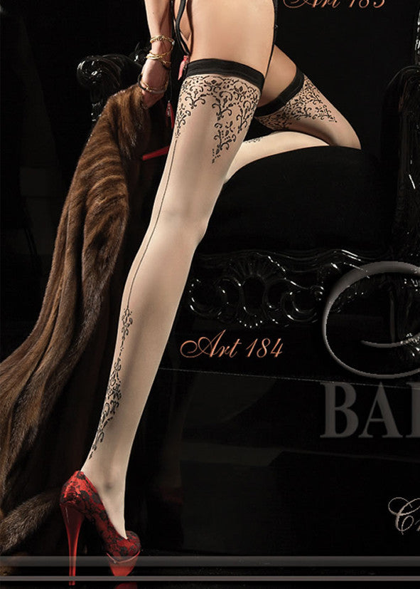 Ballerina Embroidered Stockings 184