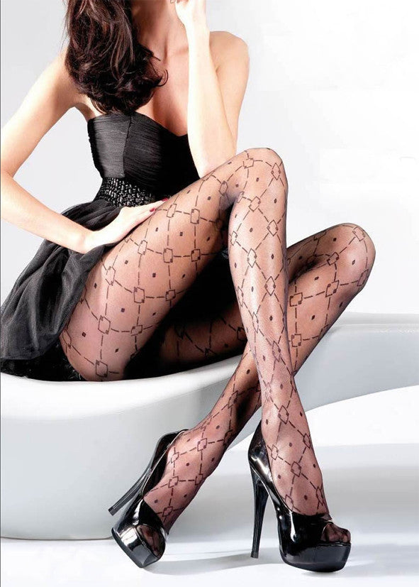 Gabriella Patterned Tights 01475