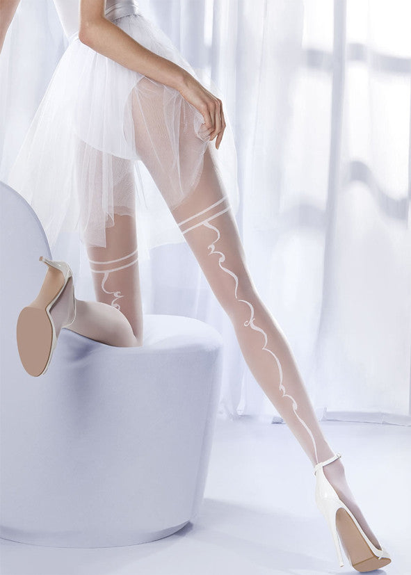 Gabriella Faux Garter Tights 307