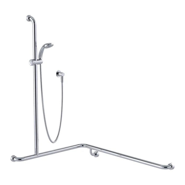Shower System with 760mm x 1000mm x 1100mm Hygienic Seal® Grab Rail