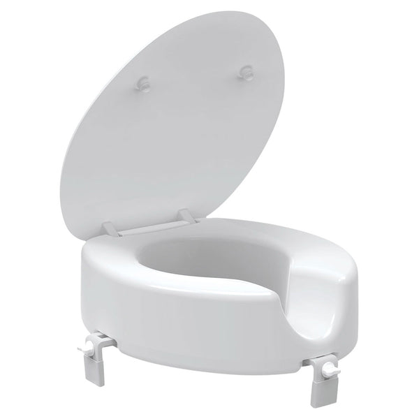 Evekare 120mm Raised Toilet Seat with Lid