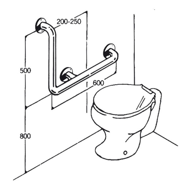 Toilet Rail - Type 04 - Concealed Flanges
