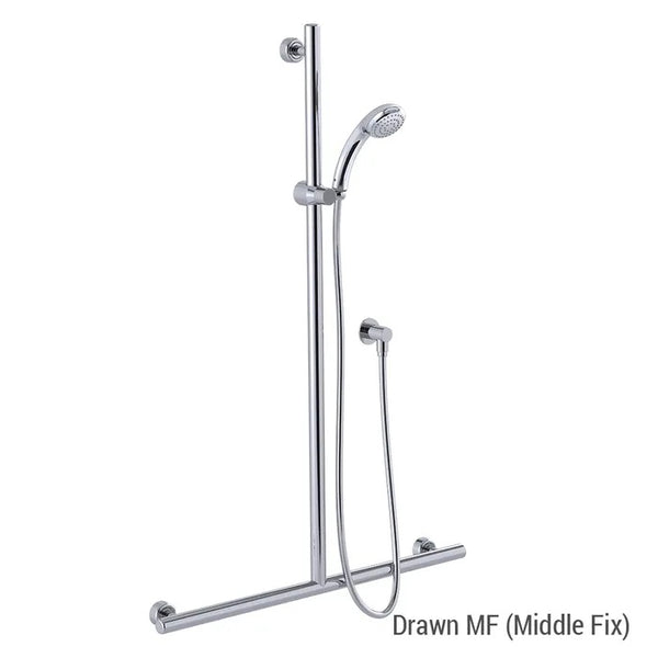 Linear/Princess Shower with  700mm x 1100mm Linear Grab Rail