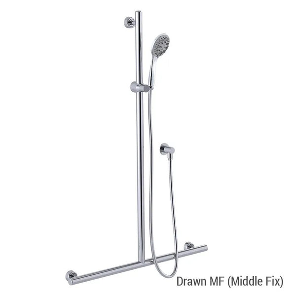 Linear/Streamjet Turbo Shower with 700mm x 1100mm Linear Grab Rail