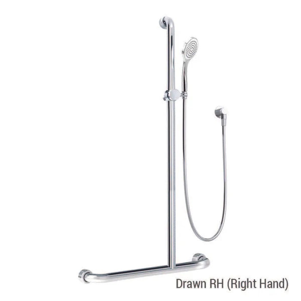 Premium Healthcare/Streamjet Shower System with 760mm x 1000mm x 1100mm Grab Rail