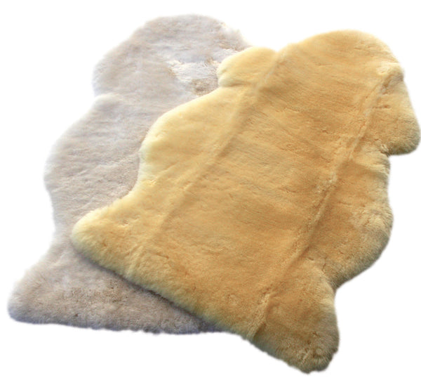 Natural Sheepskin Rug Hospital Grade - Gold Ivory