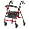 Smooth Glide Wheeled Walker - Lightweight Rollator for Indoor Use - Left
