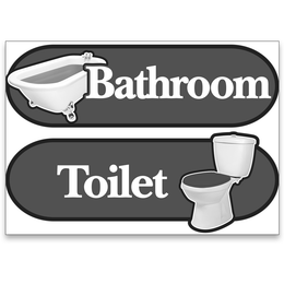 BetterLiving Orientation Signage Kit Toilet and Bathroom Blue