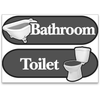 BetterLiving Orientation Signage Kit Toilet and Bathroom Grey