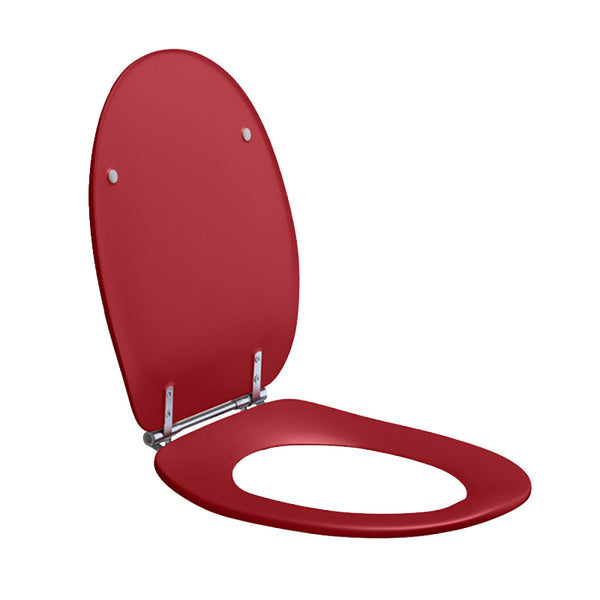 Dania Coloured Toilet Seat with Lid Red