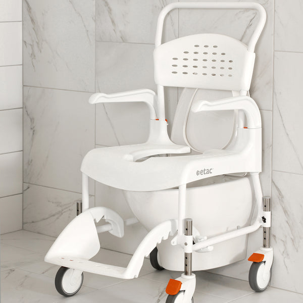 Etac Clean Mobile Shower Commode Height Adjustable