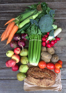 Large Veg and Fruit and Bellbird Bread - Seasonal Organic Box