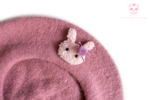 Load image into Gallery viewer, Bunny Beret Raspberry