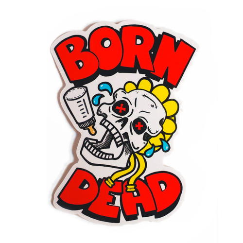 Born Dead Baby Bottle Skull Vinyl Sticker - Glitter Bones Boutique