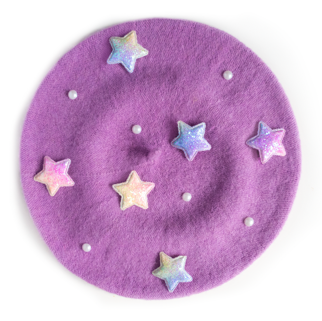 Purple Star Beret