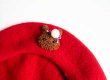 Load image into Gallery viewer, Bunny Beret Red